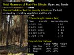 field measures of post fire effects ryan and noste