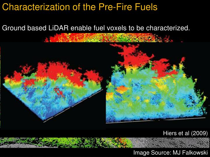 Characterization of the Pre-Fire Fuels
