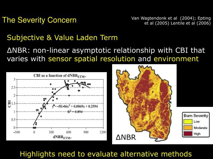 Van Wagtendonk et al  (2004); Epting et al (2005) Lentile et al (2006)