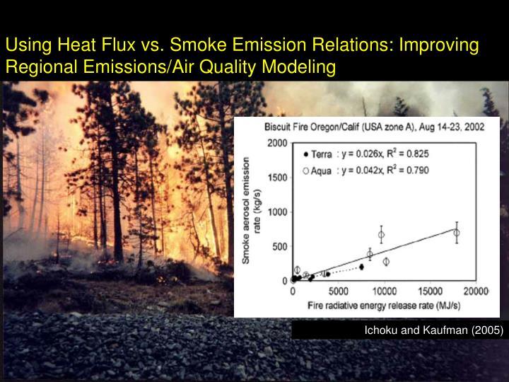 Using Heat Flux vs. Smoke Emission Relations: Improving Regional Emissions/Air Quality Modeling