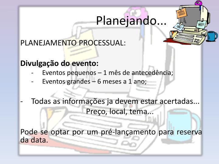 Planejando...