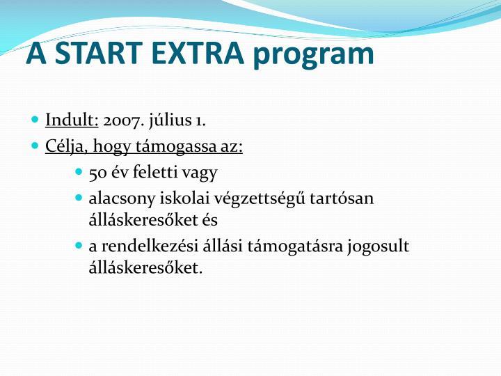 A START EXTRA program