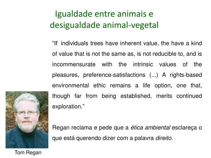 Igualdade entre animais e