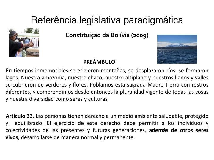 Referência legislativa paradigmática