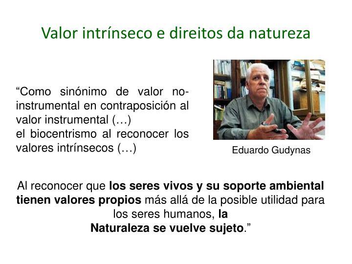 Valor intrínseco e direitos da natureza