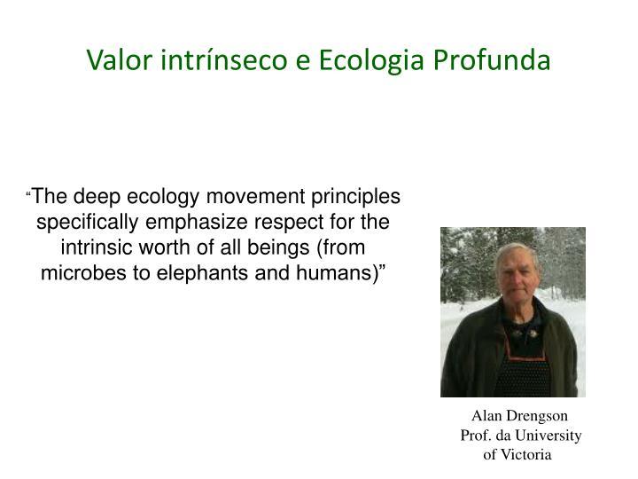 Valor intrínseco e Ecologia Profunda
