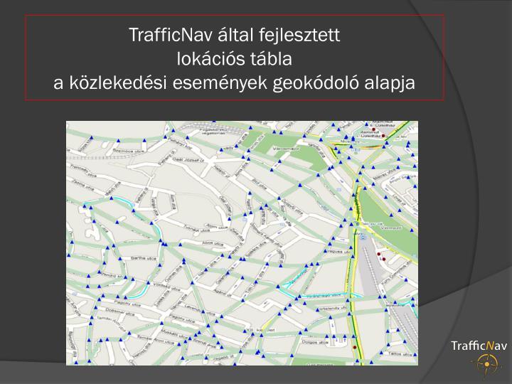 TrafficNav által fejlesztett