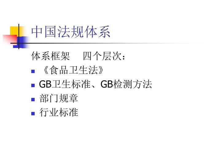 中国法规体系