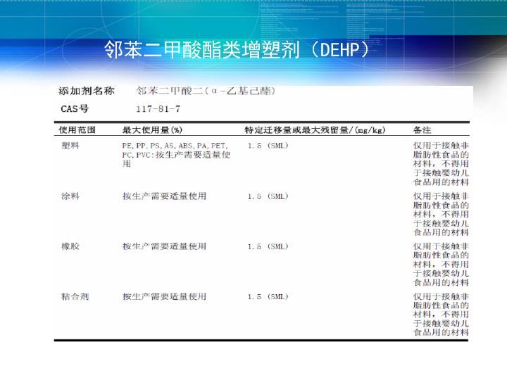 邻苯二甲酸酯类增塑剂(