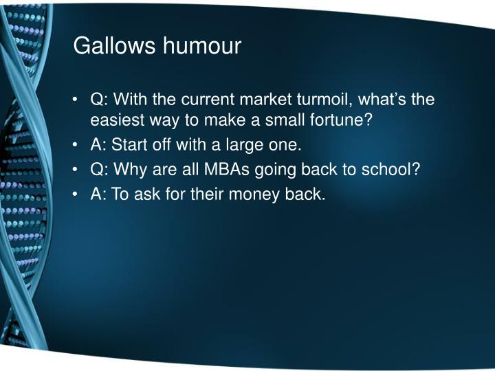 Gallows humour