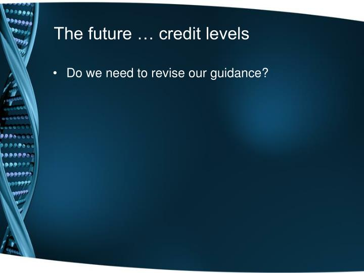 The future … credit levels