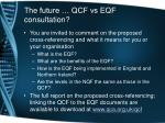 the future qcf vs eqf consultation