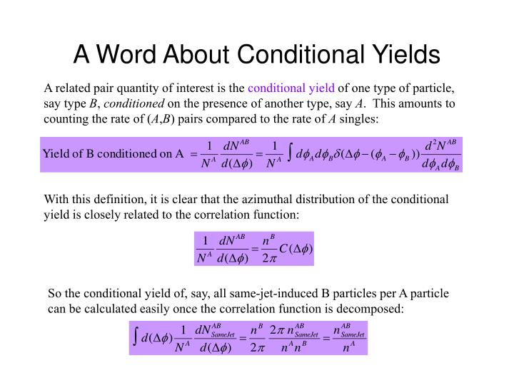 A Word About Conditional Yields