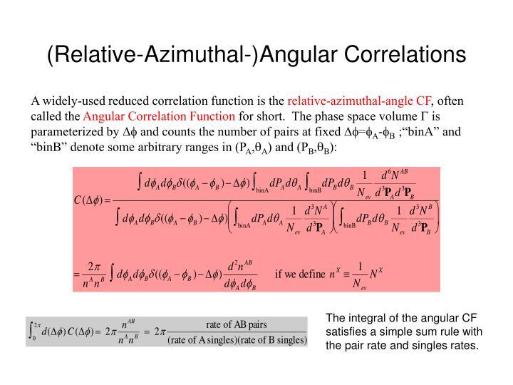 (Relative-Azimuthal-)Angular Correlations