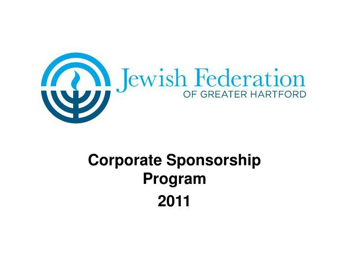 Corporate sponsorship program 2011