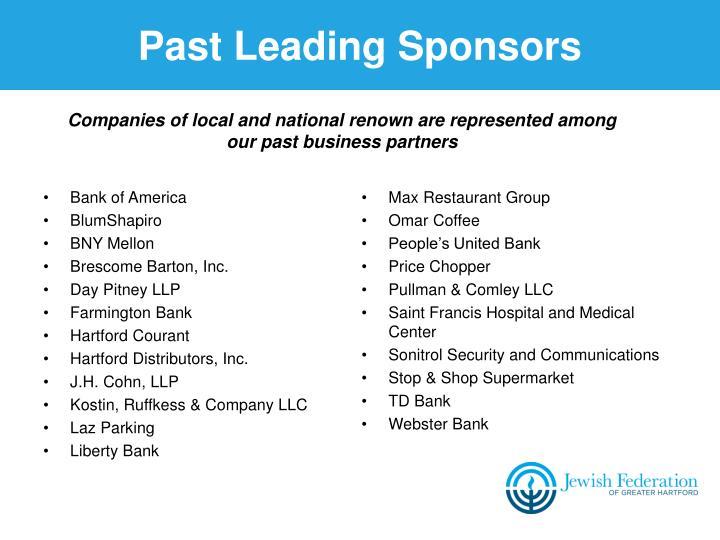 Past Leading Sponsors