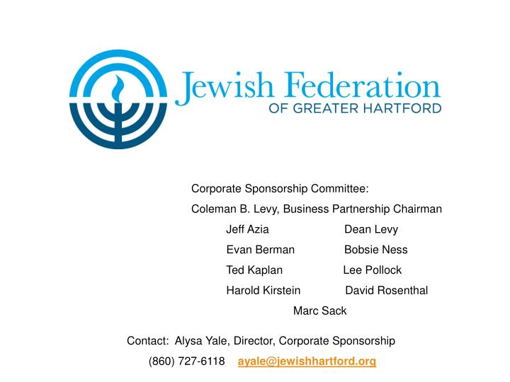 Corporate Sponsorship Committee: