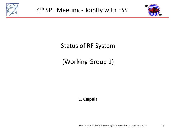 4 th spl meeting jointly with ess