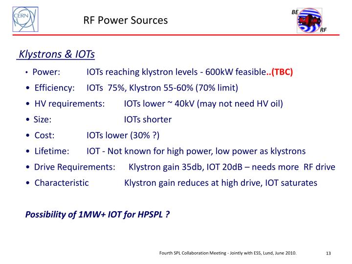 RF Power Sources