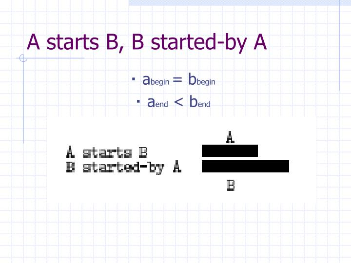 A starts B, B started-by A