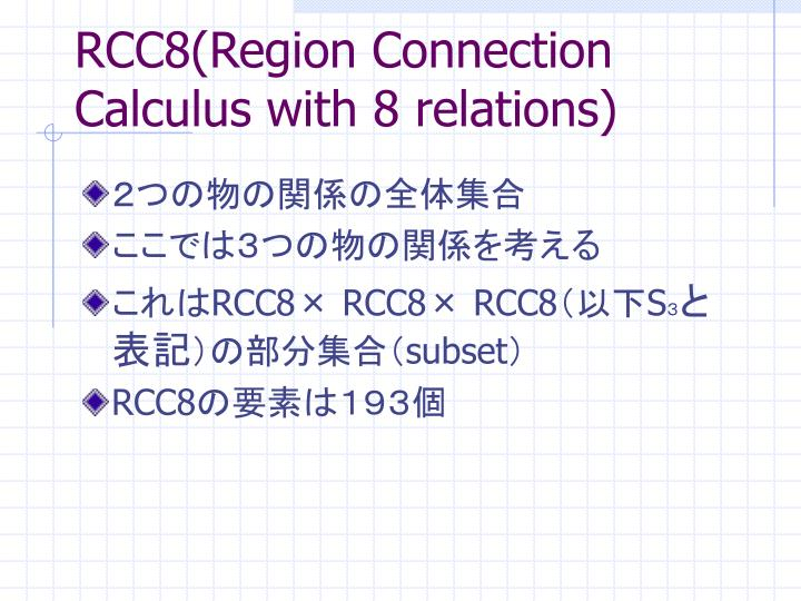 RCC8(Region Connection Calculus with 8 relations)