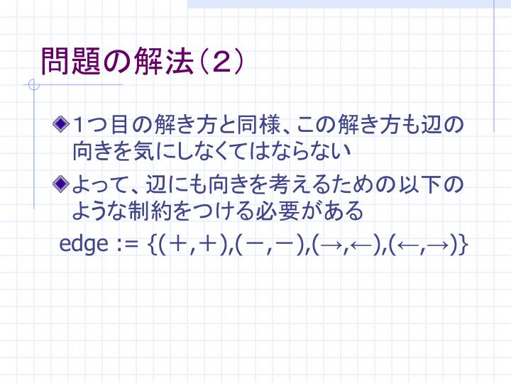 問題の解法(2)