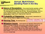 annual multi kiloton blinding flash in the sky