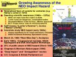 growing awareness of the neo impact hazard