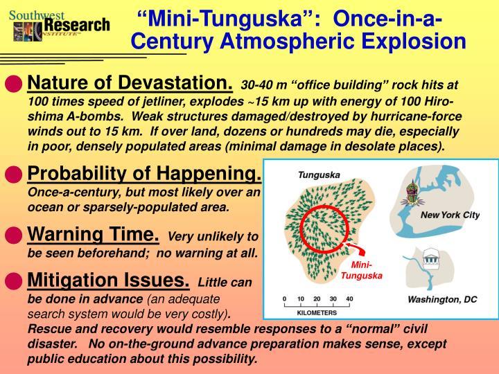 """Mini-Tunguska"":  Once-in-a-Century Atmospheric Explosion"