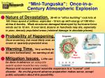 mini tunguska once in a century atmospheric explosion