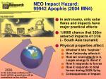 neo impact hazard 99942 apophis 2004 mn4
