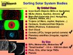 sorting solar system bodies