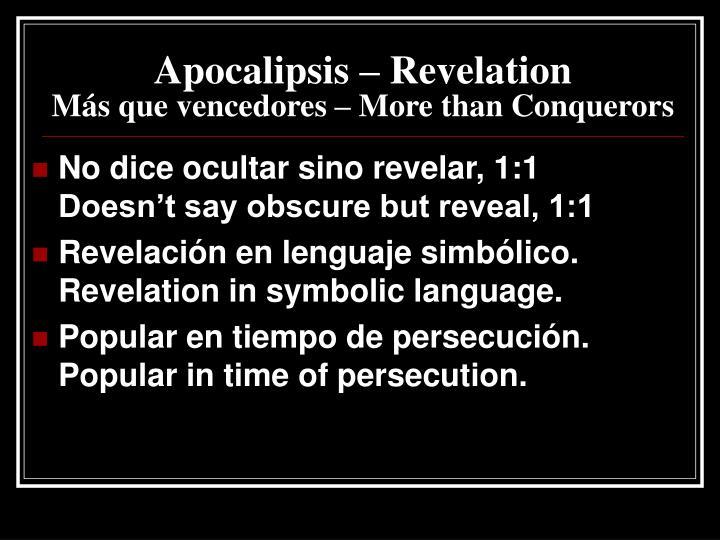 Apocalipsis – Revelation