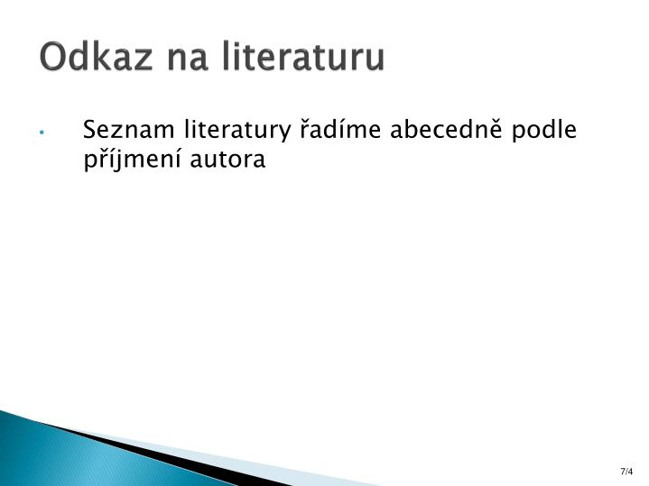 Odkaz na literaturu