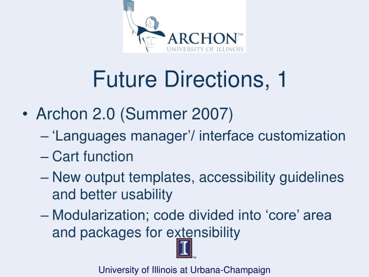 Future Directions, 1