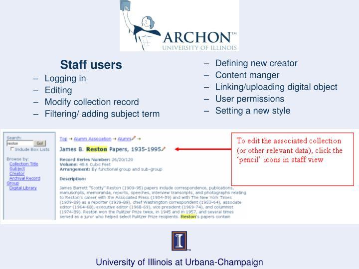 Staff users