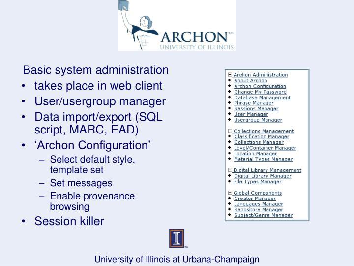 Basic system administration