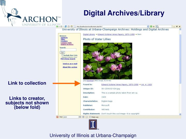 Digital Archives/Library