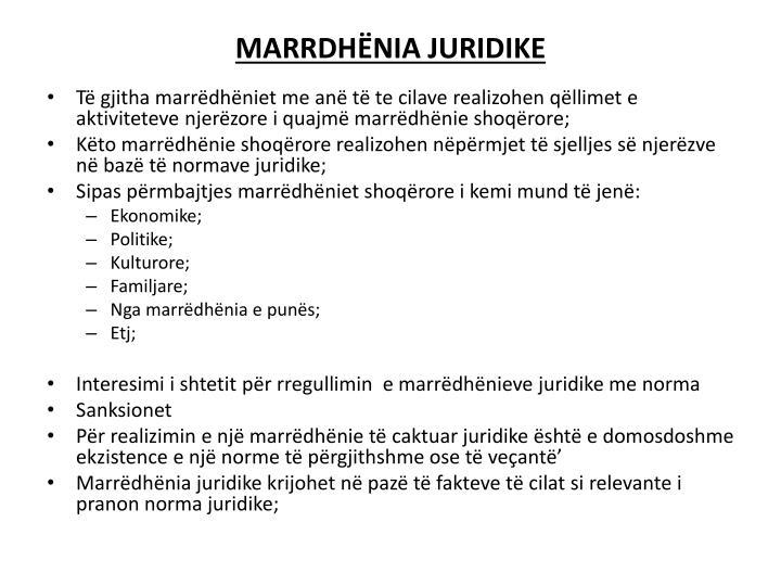 MARRDHËNIA JURIDIKE