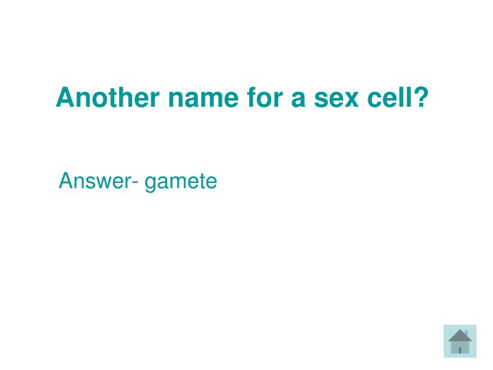 Another name for a sex cell?