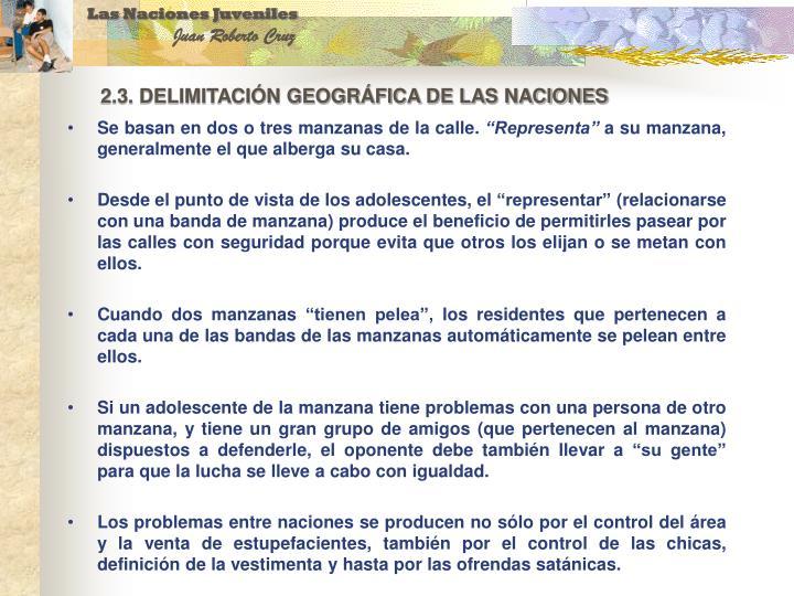 2.3. DELIMITACIÓN GEOGRÁFICA DE LAS NACIONES