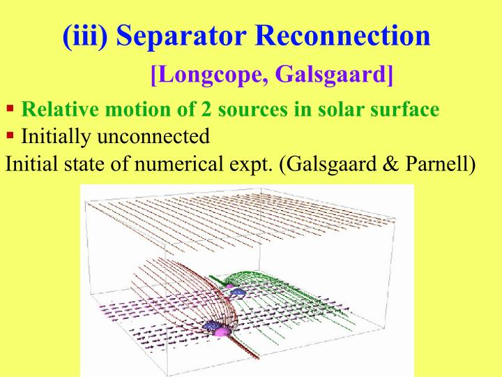 (iii) Separator Reconnection