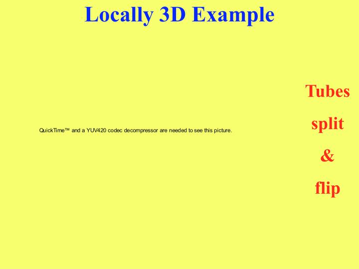 Locally 3D Example