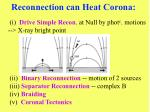 reconnection can heat corona
