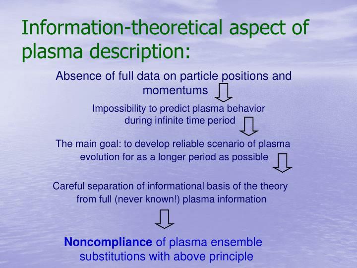 Information-theoretical aspect of plasma description: