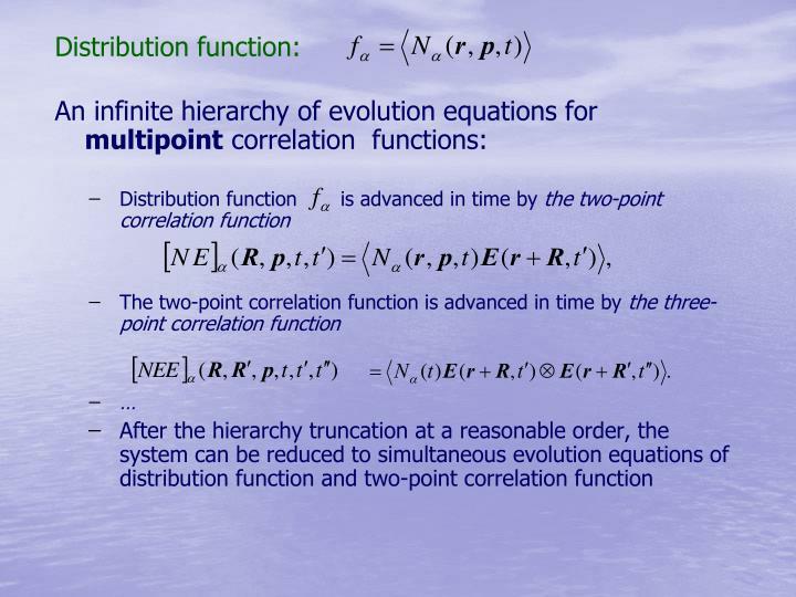 Distribution function: