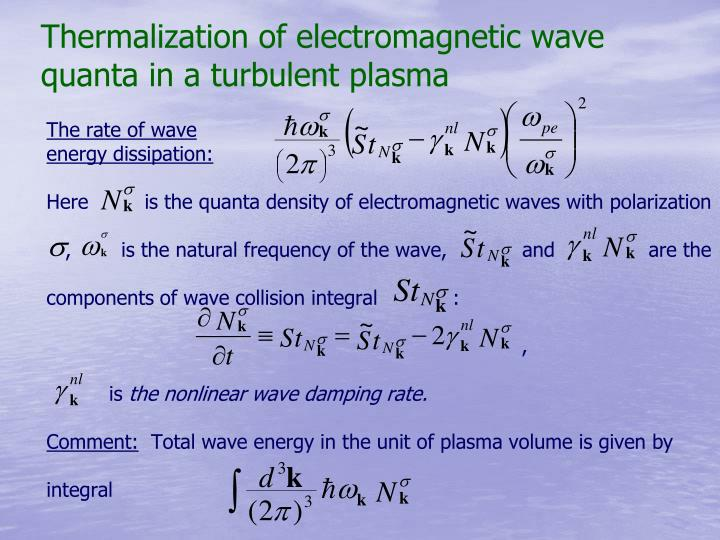 Thermalization of electromagnetic wave quanta in a turbulent plasma