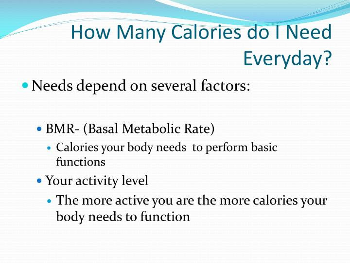 How Many Calories do I Need Everyday?