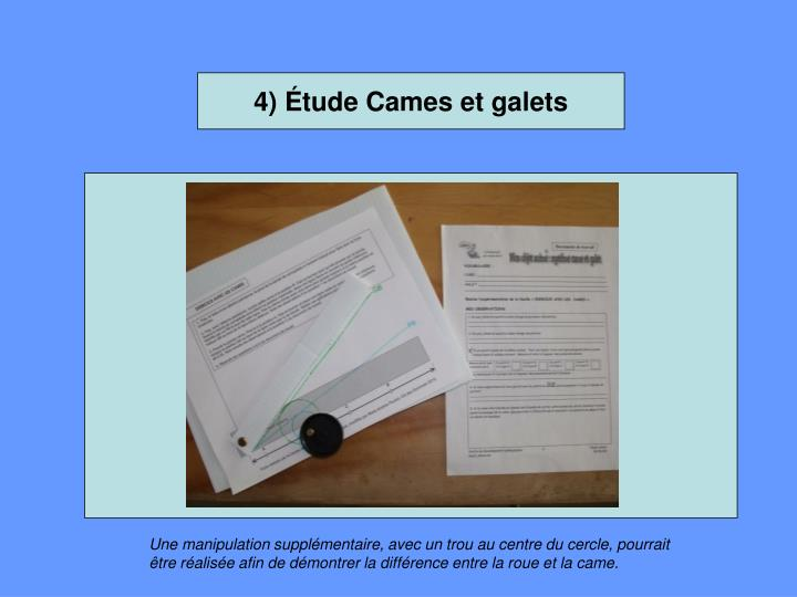 4) Étude Cames et galets