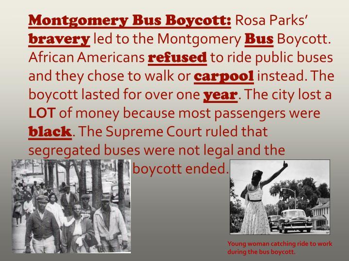 Montgomery Bus Boycott: